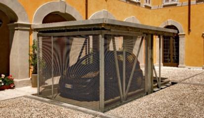 Exemplu de utilizare a sistemului de parcare  Sistem de parcare - Crema - Italia