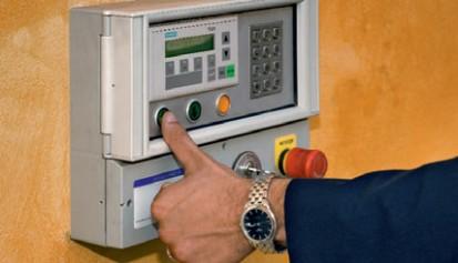 Panoul de comanda - detaliu Sistem de parcare - Crema - Italia