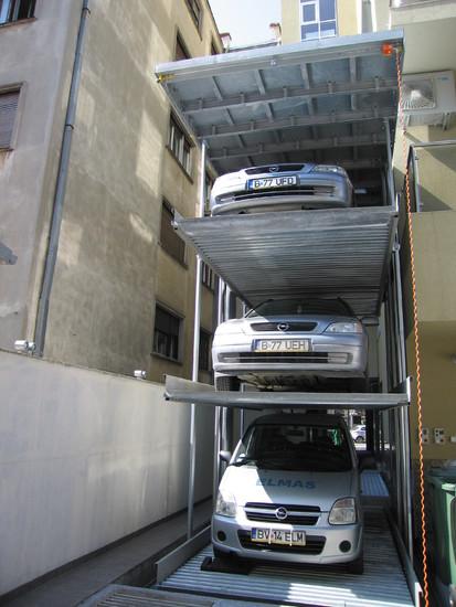 Utilizarea sistemului Parklift Bucuresti Sistem de parcare - Cladire de birouri - Bucuresti