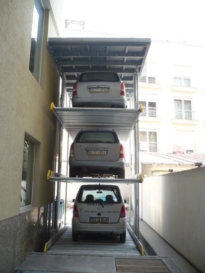 Parklift 463 Bucuresti - cu 3 autoturisme Sistem de parcare - Cladire de birouri - Bucuresti