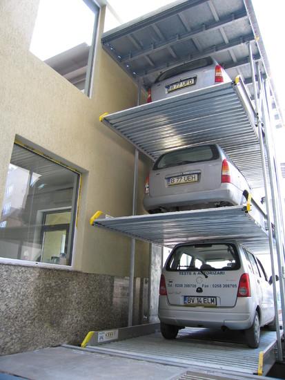 Parklift 463 Bucuresti - detaliu Sistem de parcare - Cladire de birouri - Bucuresti