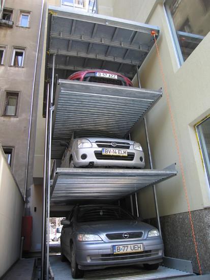 Parklift 463 Bucuresti - exemplu de utilizare Sistem de parcare - Cladire de birouri - Bucuresti