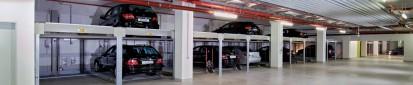 Vedere cu detalii a sistemului de parcare cu 2 niveluri COMBILIFT 551 Sisteme de parcare -