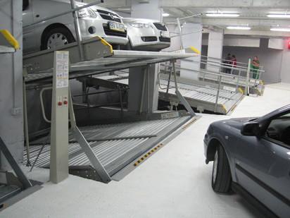 Exemplificarea modului de functionare a sistemului de parcare PARKLIFT 340 Sisteme de parcare - Imobil birouri