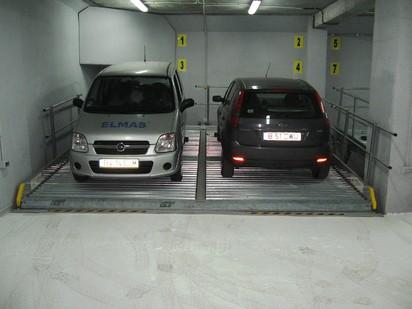 Platforma inclinata cu 2 autoturisme PARKLIFT 340 Sisteme de parcare - Imobil birouri - Bucuresti