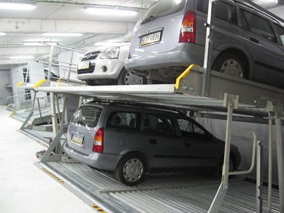 3 autoturisme pe 2 platforme inclinate PARKLIFT 340 Sisteme de parcare - Imobil birouri - Bucuresti