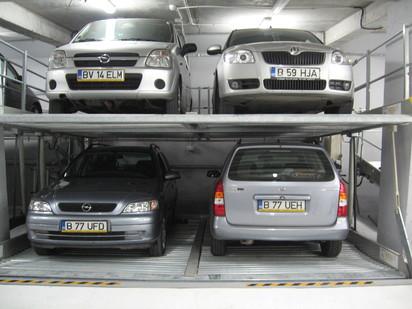 Sistem de parcare economic - 2 masini parcate deasupra altor 2 PARKLIFT 340 Sisteme de parcare