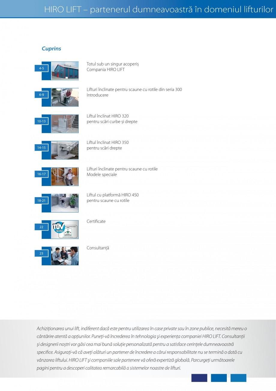 Pagina 2 - Lifturi (servoscara) si platforme pentru persoane cu dizabilitati HIRO LIFT HIRO 160,...