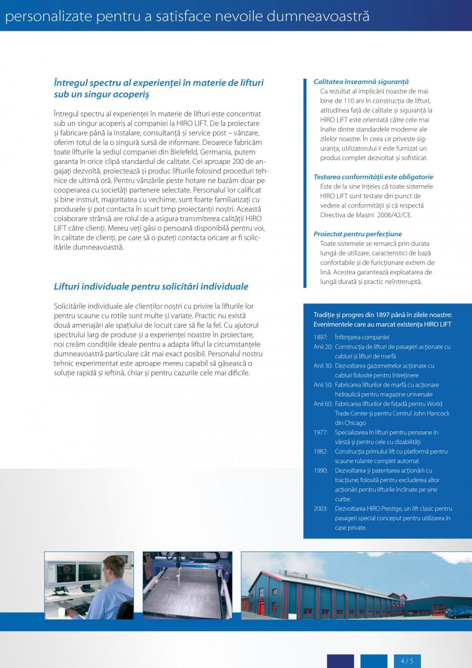 Pagina 5 - Lifturi (servoscara) si platforme pentru persoane cu dizabilitati HIRO LIFT HIRO 160,...