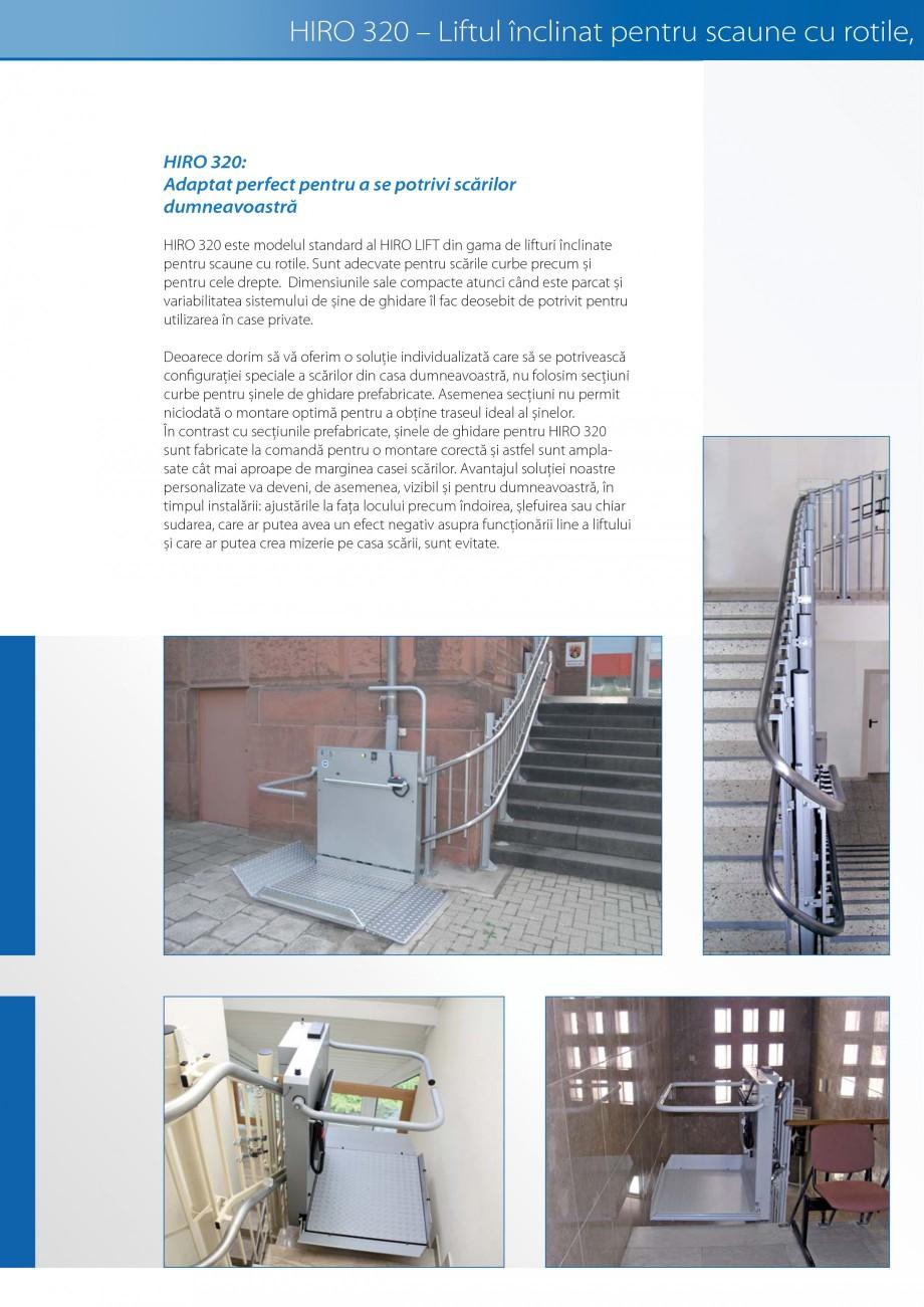 Pagina 10 - Lifturi (servoscara) si platforme pentru persoane cu dizabilitati HIRO LIFT HIRO 160,...
