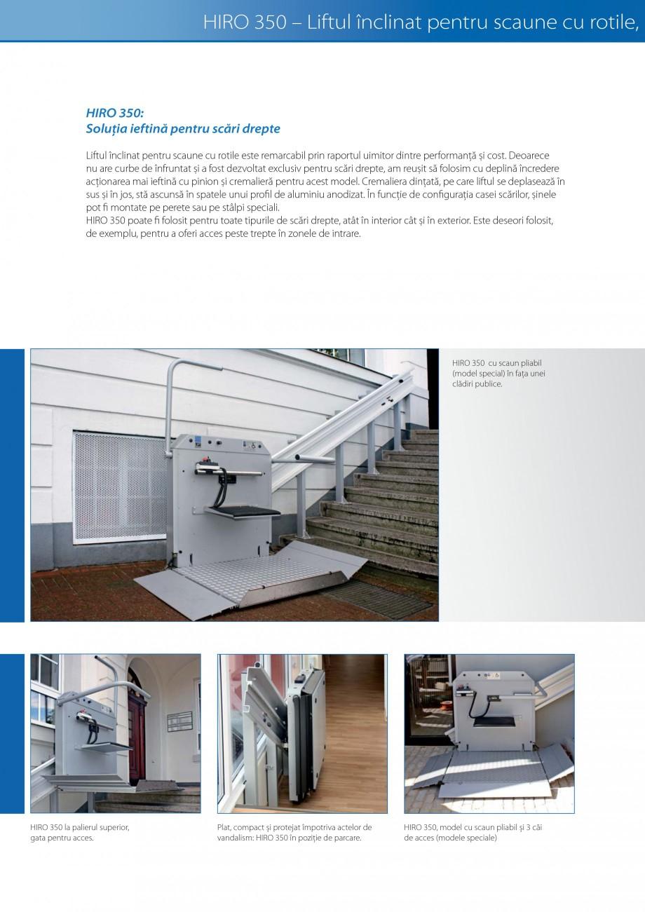 Pagina 14 - Lifturi (servoscara) si platforme pentru persoane cu dizabilitati HIRO LIFT HIRO 160,...