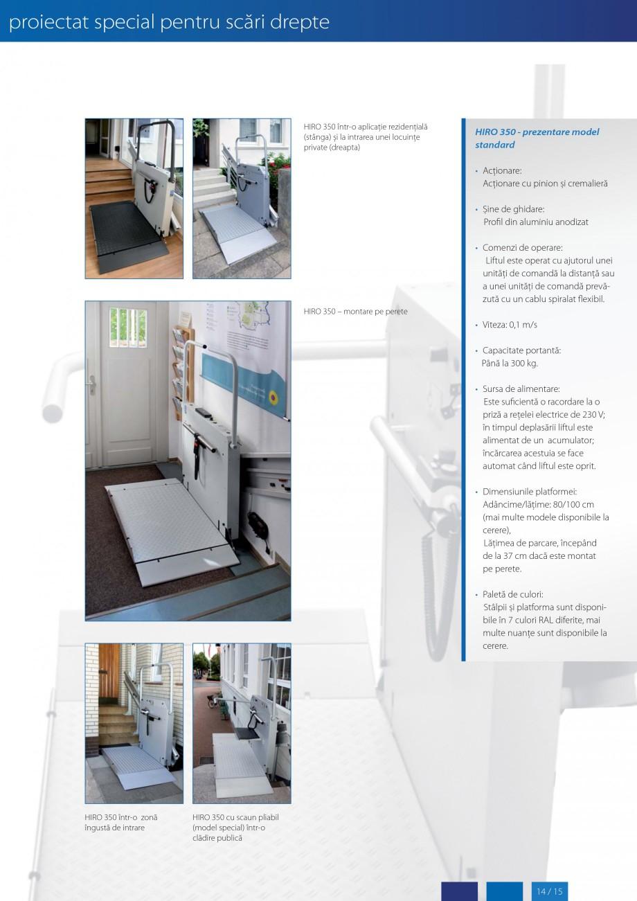 Pagina 15 - Lifturi (servoscara) si platforme pentru persoane cu dizabilitati HIRO LIFT HIRO 160,...