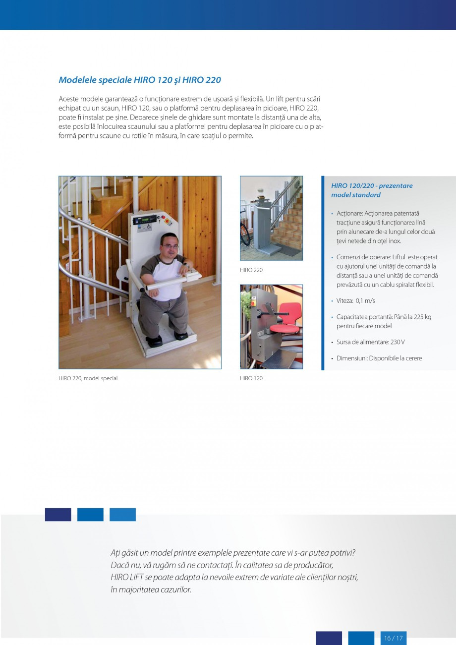 Pagina 17 - Lifturi (servoscara) si platforme pentru persoane cu dizabilitati HIRO LIFT HIRO 160,...