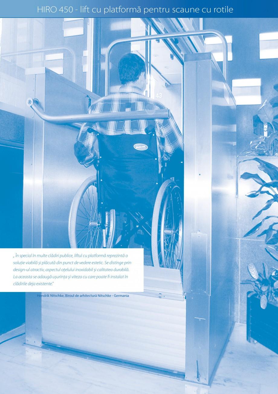 Pagina 18 - Lifturi (servoscara) si platforme pentru persoane cu dizabilitati HIRO LIFT HIRO 160,...