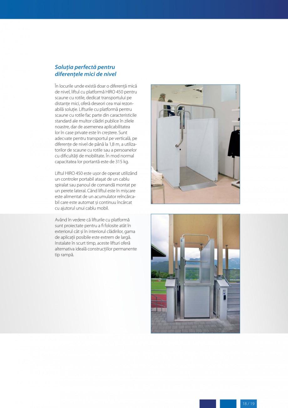Pagina 19 - Lifturi (servoscara) si platforme pentru persoane cu dizabilitati HIRO LIFT HIRO 160,...
