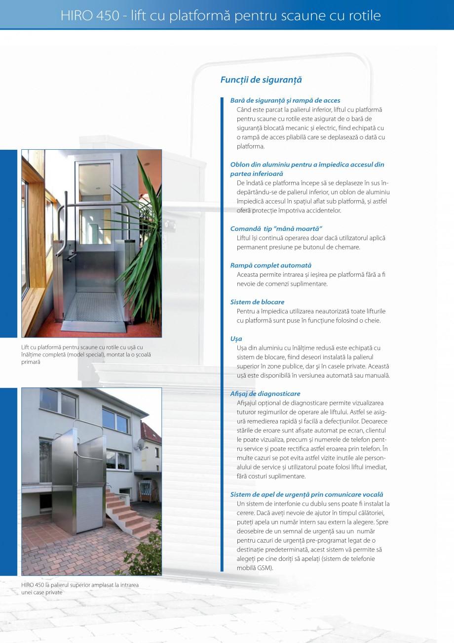 Pagina 20 - Lifturi (servoscara) si platforme pentru persoane cu dizabilitati HIRO LIFT HIRO 160,...