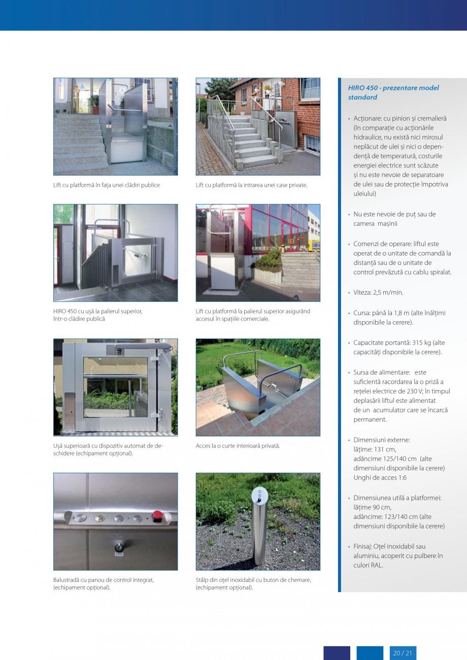 Pagina 21 - Lifturi (servoscara) si platforme pentru persoane cu dizabilitati HIRO LIFT HIRO 160,...