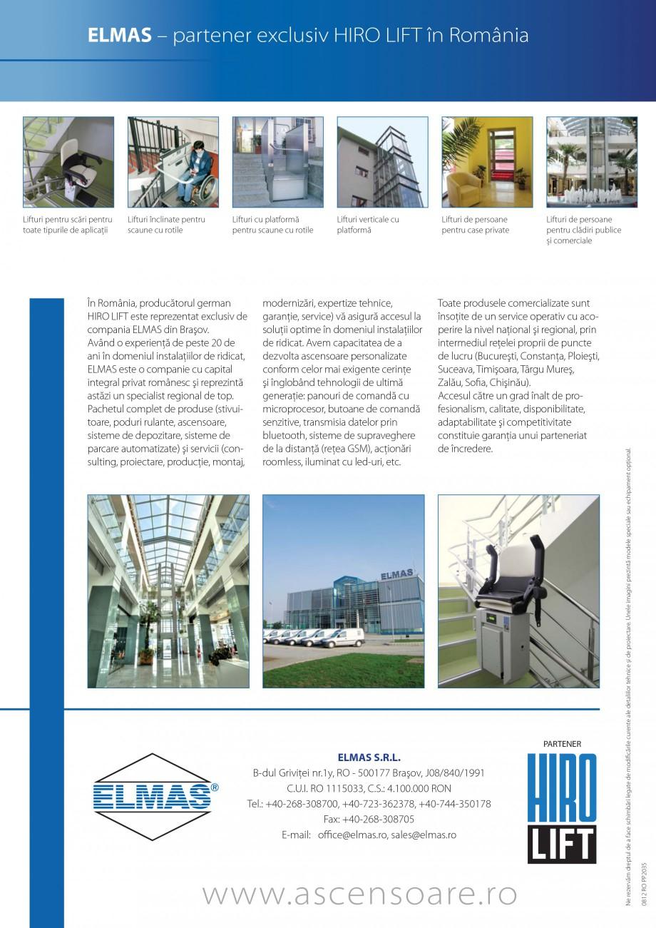 Pagina 24 - Lifturi (servoscara) si platforme pentru persoane cu dizabilitati HIRO LIFT HIRO 160,...