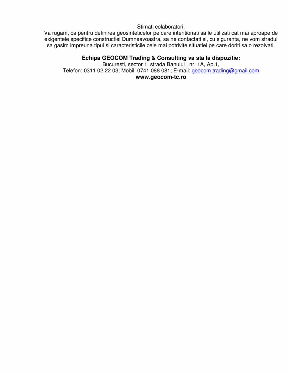 Pagina 8 - Geosaltele  GEOCOM TRADING&CONSULTING TRISTRATIFICATE, TRISTRATIFICATE RANFORSATE,...