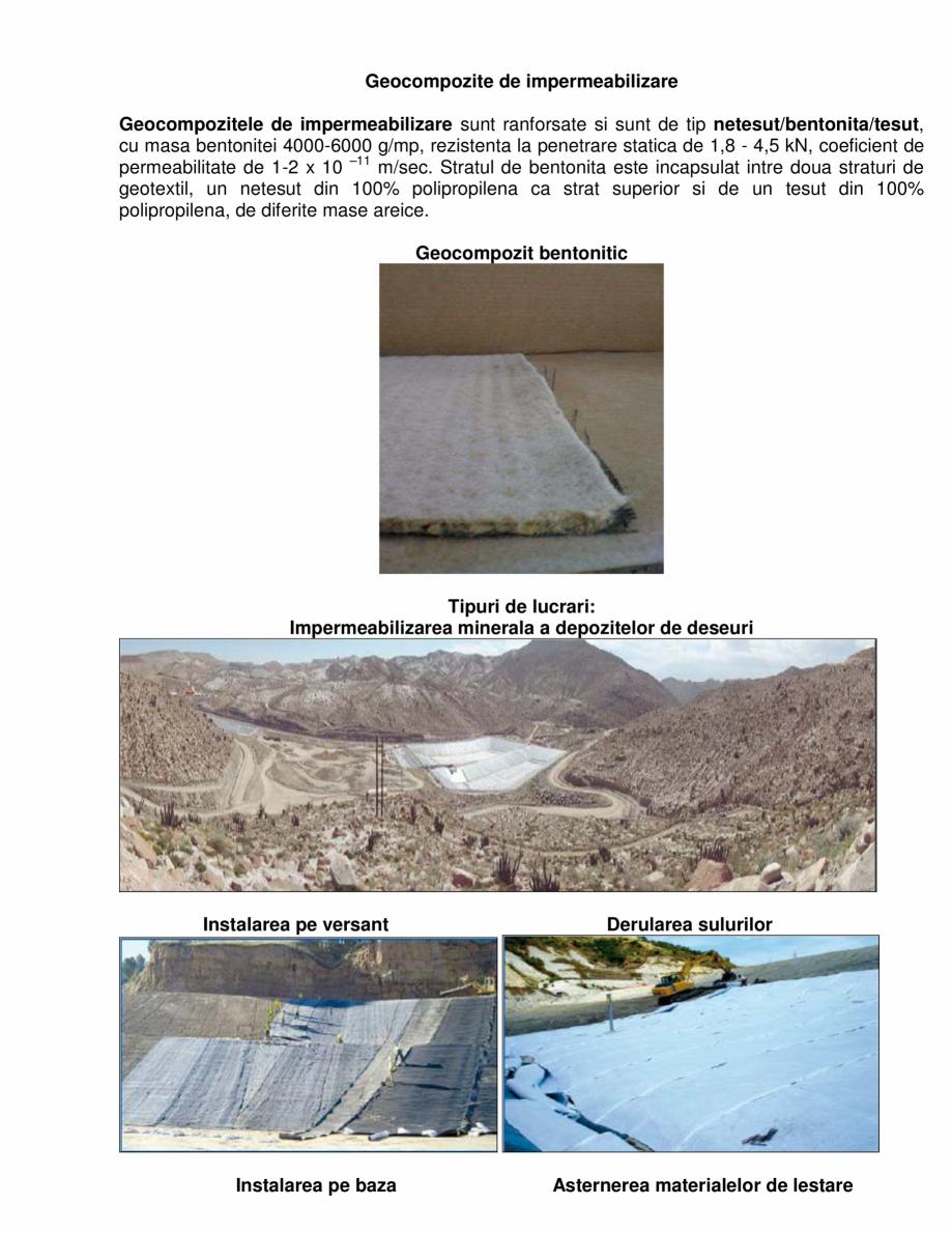 Pagina 1 - Geocompozite de impermeabilizare  GEOCOM TRADING&CONSULTING Lucrari, proiecte Romana ...