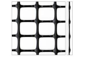 Geosintetice - Geogrile bidirectionale Geogrilele bidimensionale de la Geocom sunt realizate din retele poliolefinice bietirate, cu noduri continui, din 100% polipropilena sau din geogrile textile, tesute din PES sau PVA.