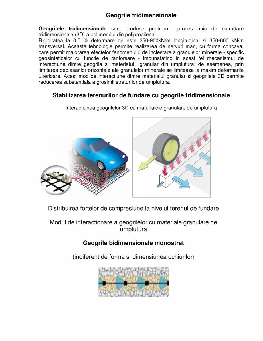 Pagina 1 - Geogrile tridimensionale  GEOCOM TRADING&CONSULTING Lucrari, proiecte Romana Geogrile...