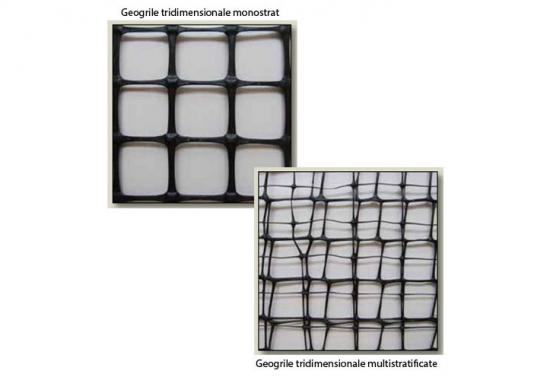 Geogrile tridimensionale pentru reducerea grosimii straturilor de umplutura GEOCOM TRADING&CONSULTING