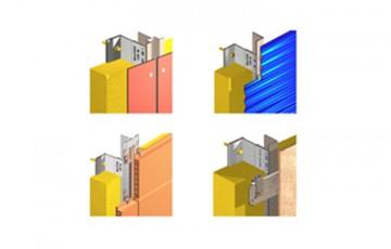 Sisteme de fixare si ancorare fatade Sistemele de fixare si ancorare fatade EuroFOX sunt o combinatie intre console si profile din aluminiu cu capacitate portanta ridicata, ce pot fi orizontale, verticale sau combinate