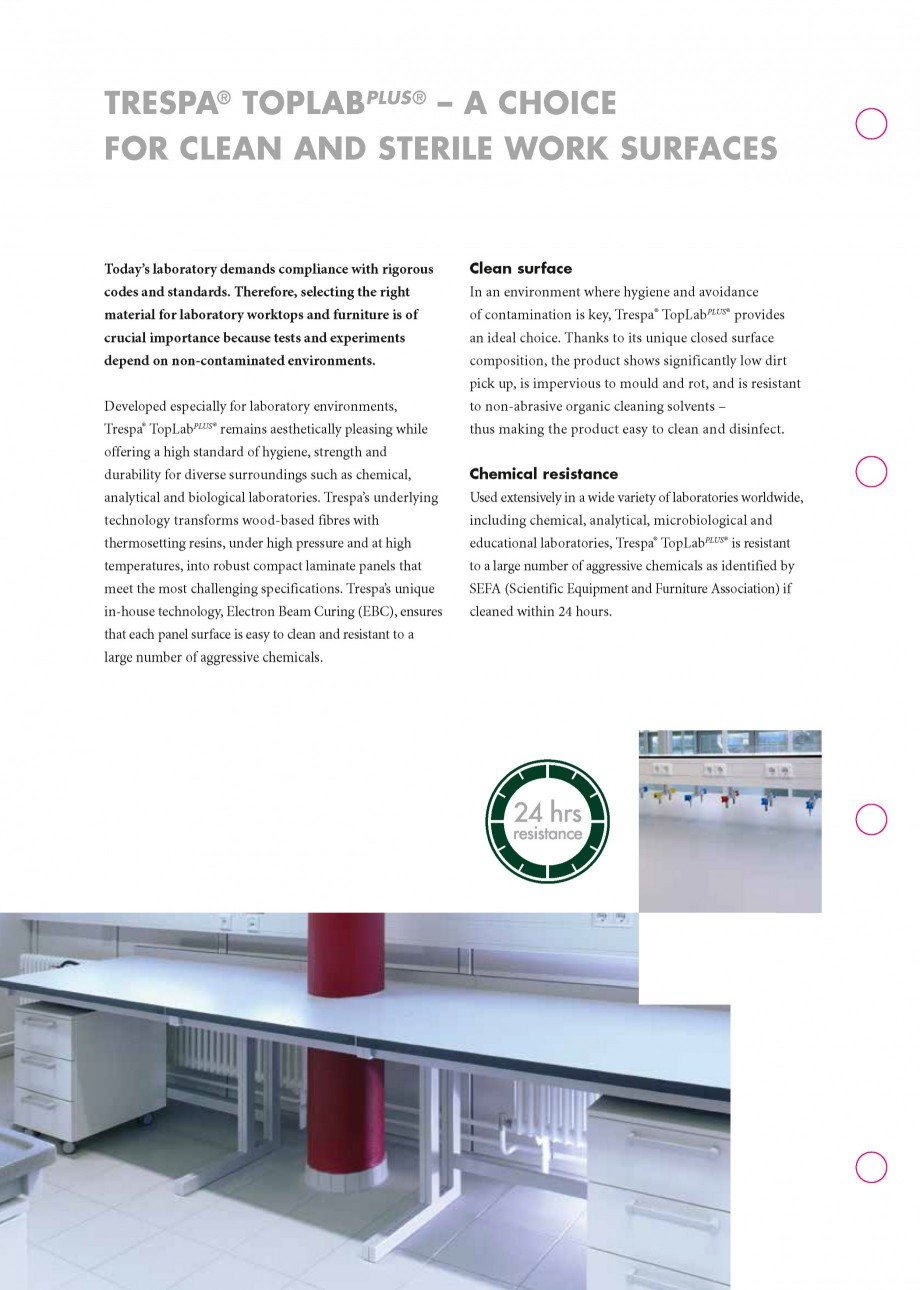 Pagina 2 - Placaje HPL pentru realizarea de mobilier pentru laborator - TOPLAB TRESPA TOPLAB PLUS...