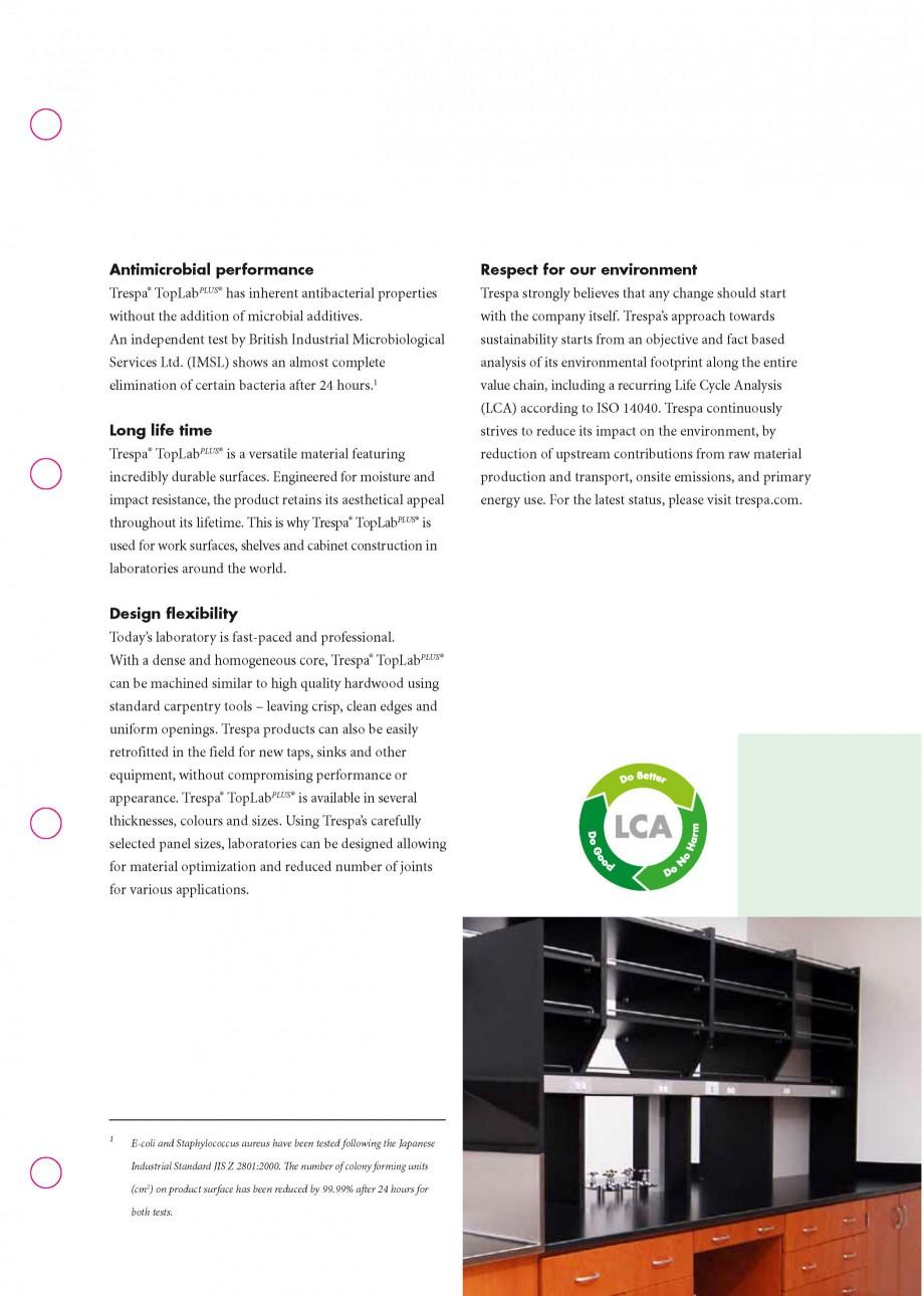 Pagina 3 - Placaje HPL pentru realizarea de mobilier pentru laborator - TOPLAB TRESPA TOPLAB PLUS...
