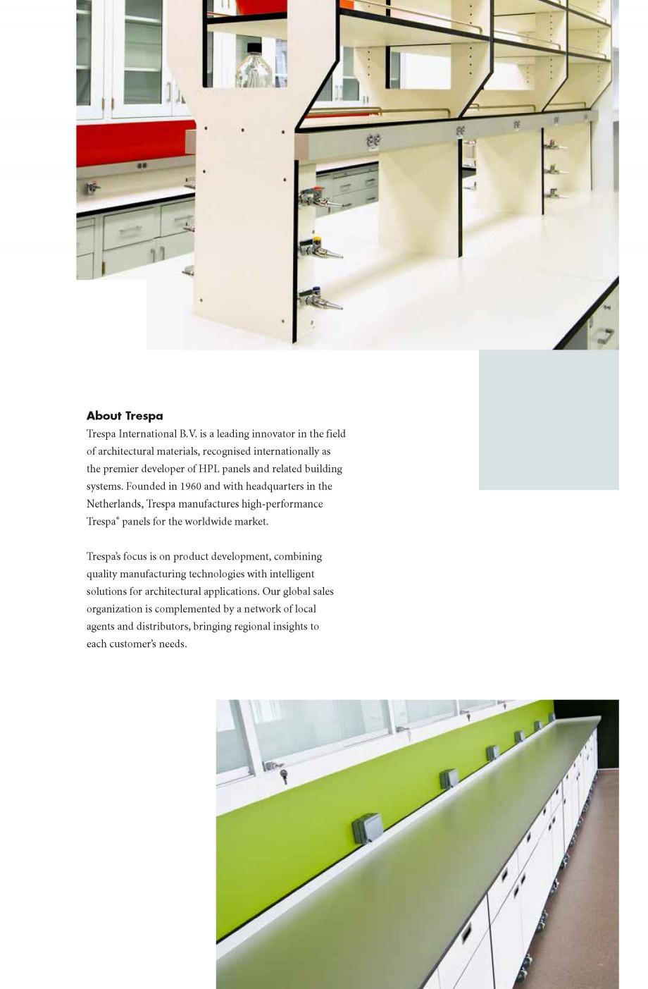 Pagina 6 - Placaje HPL pentru realizarea de mobilier pentru laborator - TOPLAB TRESPA TOPLAB PLUS...