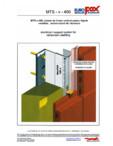 Sistem de fixare vertical pentru fatade ventilate a placilor ceramice (teracota) - MTS-v-400 MOEDING - ALPHATON