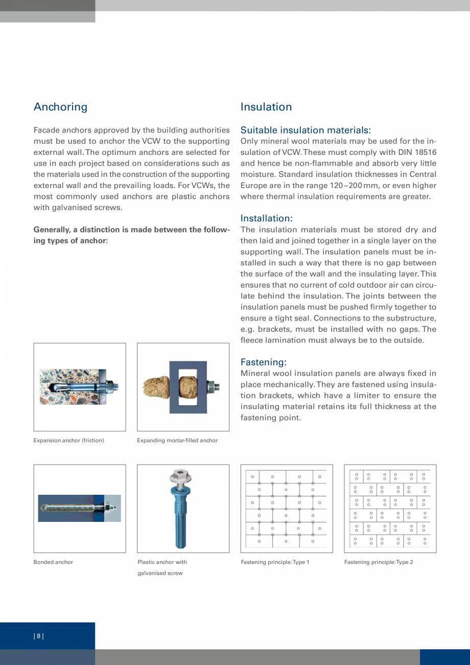 Pagina 7 - Sisteme de fixare a placarii  VECO Catalog, brosura Engleza can circulate behind the...