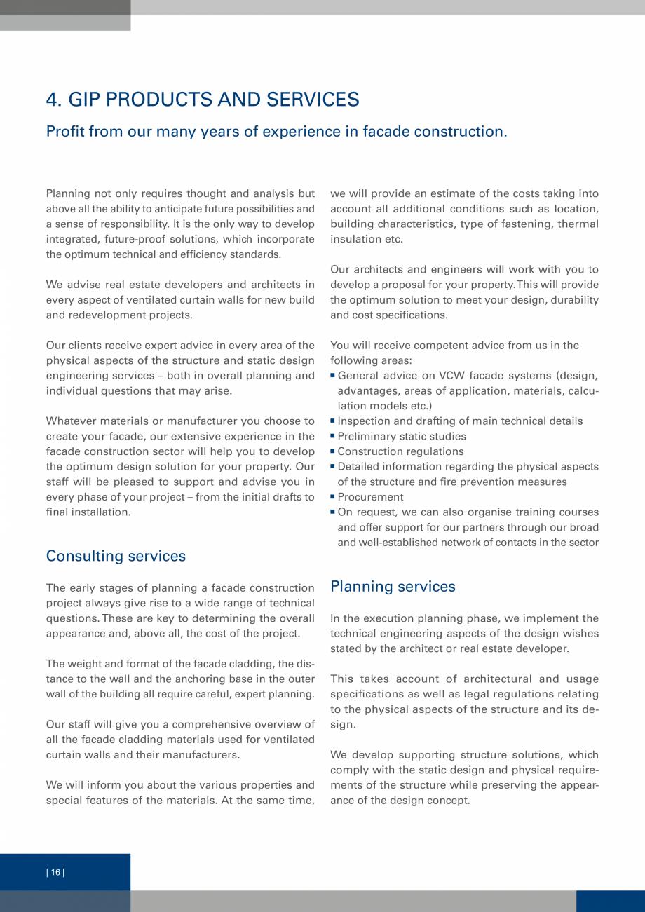 Pagina 15 - Sisteme de fixare a placarii  VECO Catalog, brosura Engleza y. In future, there will be ...