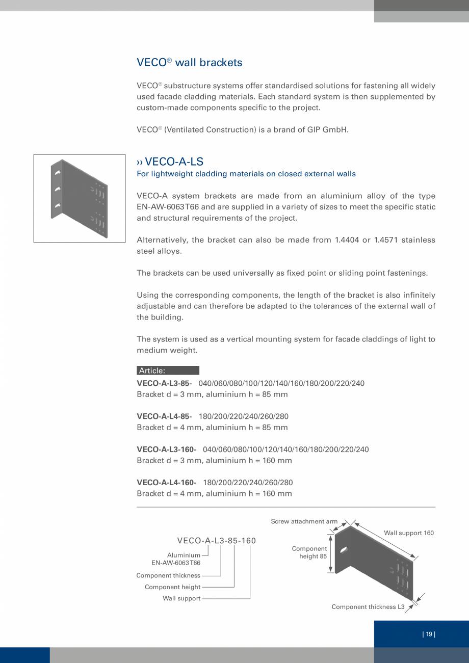 Pagina 18 - Sisteme de fixare a placarii  VECO Catalog, brosura Engleza of the external wall. The...