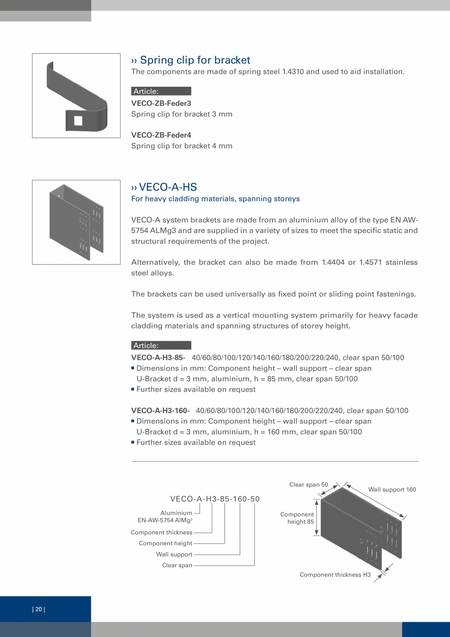 Pagina 19 - Sisteme de fixare a placarii  VECO Catalog, brosura Engleza u choose to create your...