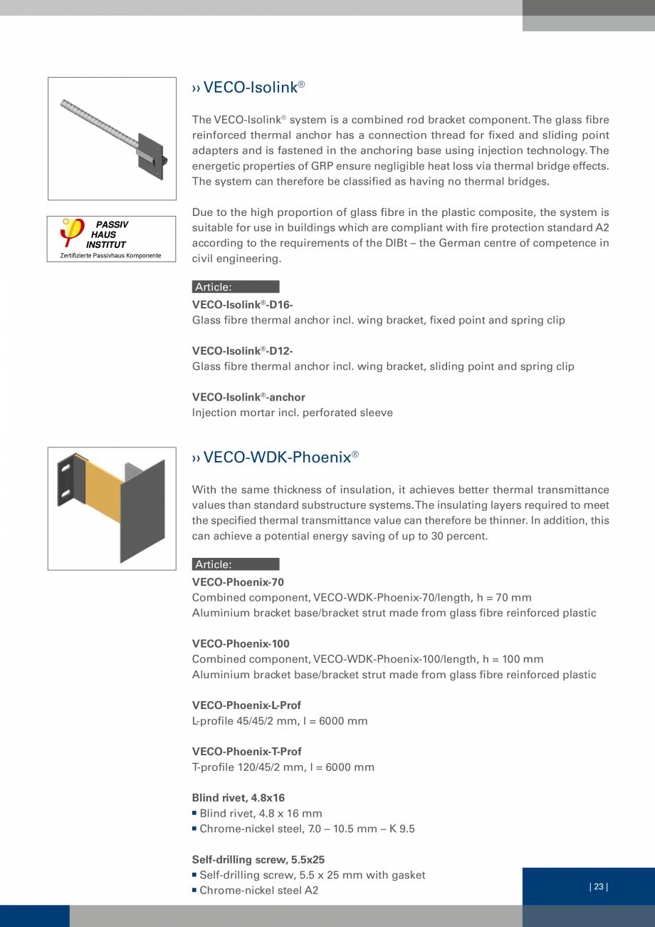 Pagina 22 - Sisteme de fixare a placarii  VECO Catalog, brosura Engleza ladding, substructure,...