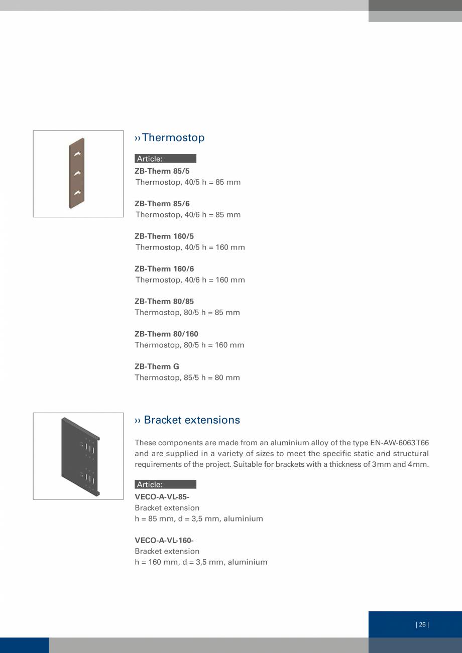 Pagina 24 - Sisteme de fixare a placarii  VECO Catalog, brosura Engleza  with thermal insulation...