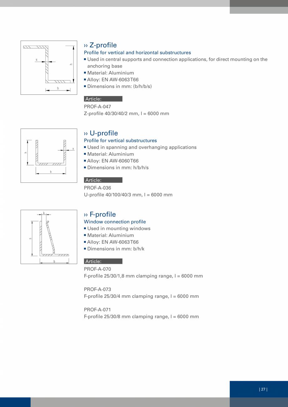 Pagina 26 - Sisteme de fixare a placarii  VECO Catalog, brosura Engleza ght. Article: VECO-A-L3-85- ...