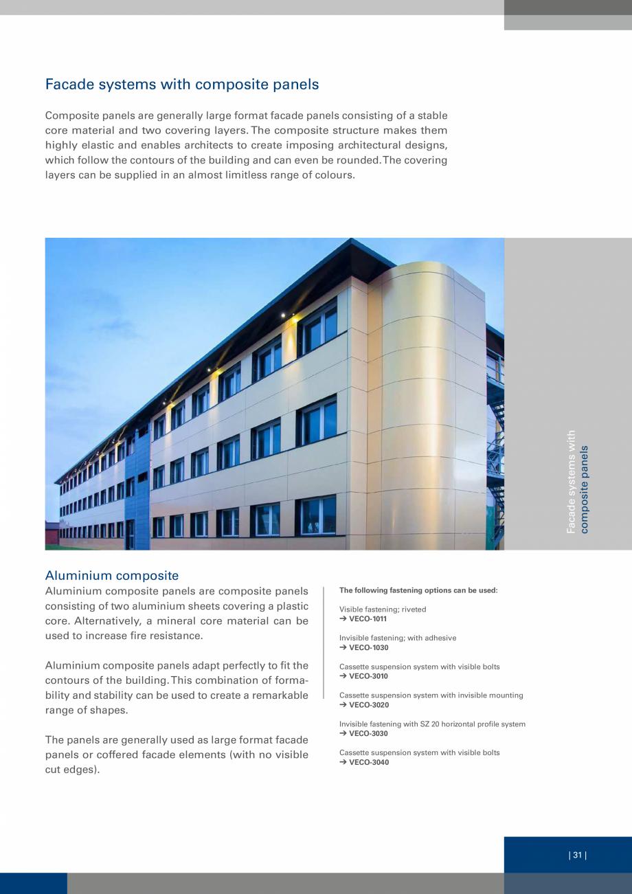 Pagina 31 - Sisteme de fixare a placarii  VECO Catalog, brosura Engleza sified as having no thermal ...