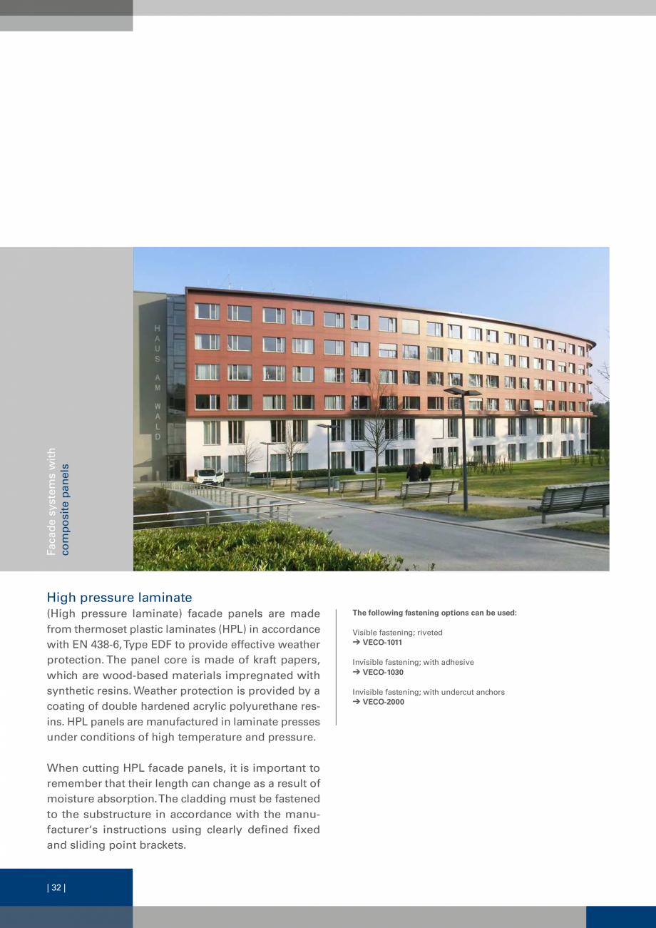 Pagina 32 - Sisteme de fixare a placarii  VECO Catalog, brosura Engleza length, h = 70 mm Aluminium ...