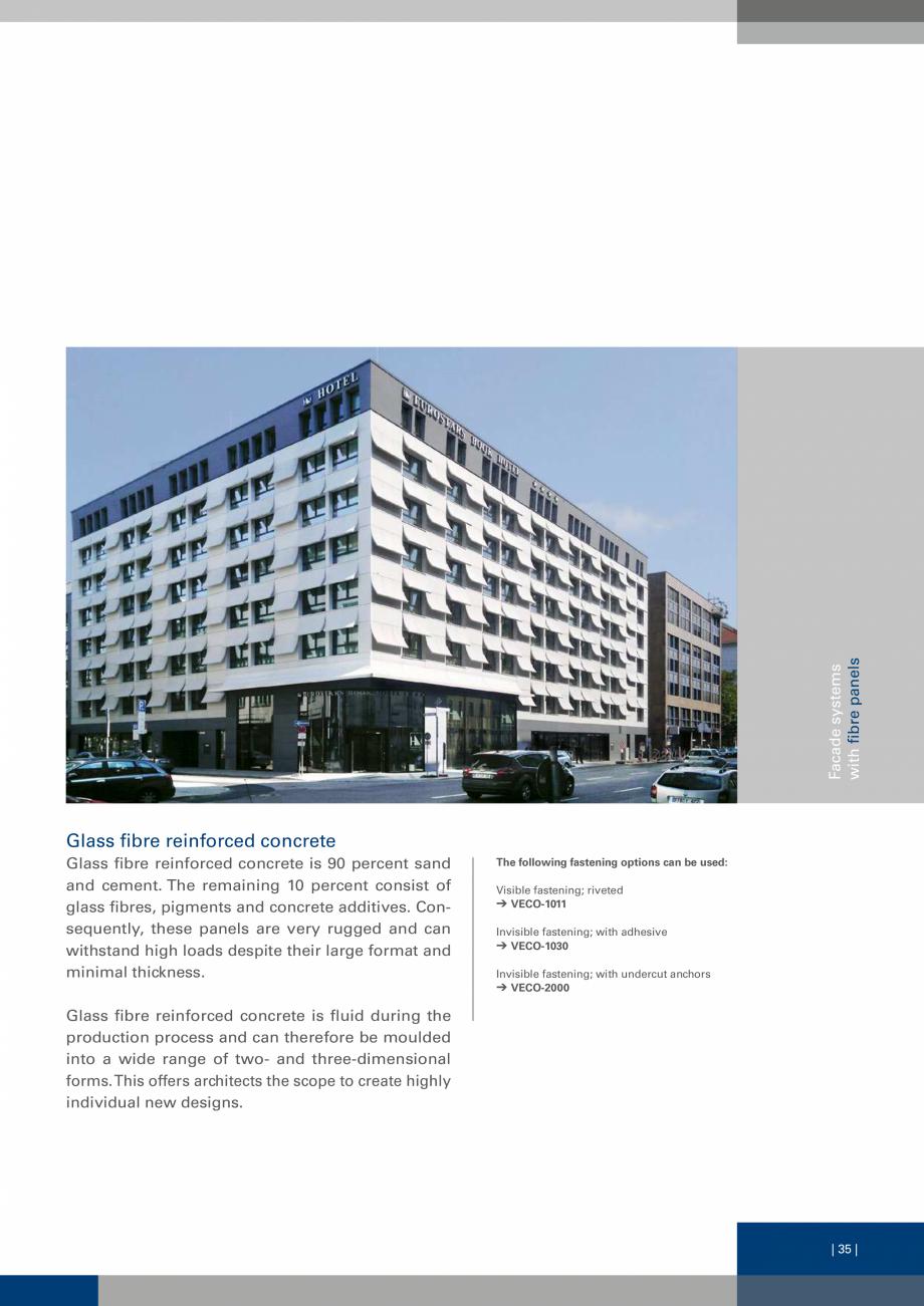 Pagina 35 - Sisteme de fixare a placarii  VECO Catalog, brosura Engleza e 50/100/2 mm, l = 6000 mm...