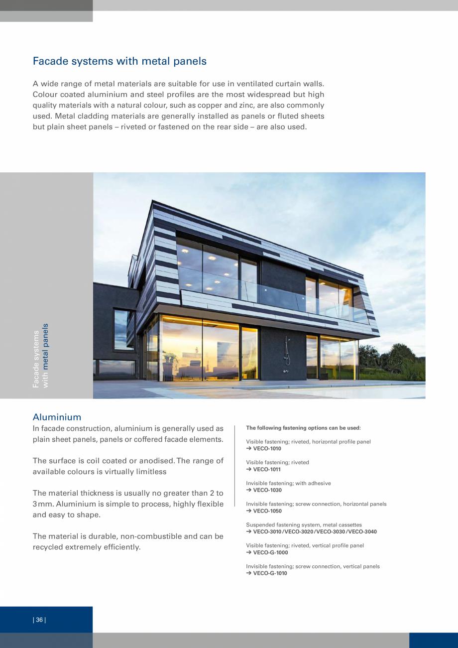 Pagina 36 - Sisteme de fixare a placarii  VECO Catalog, brosura Engleza nection profile Used in...