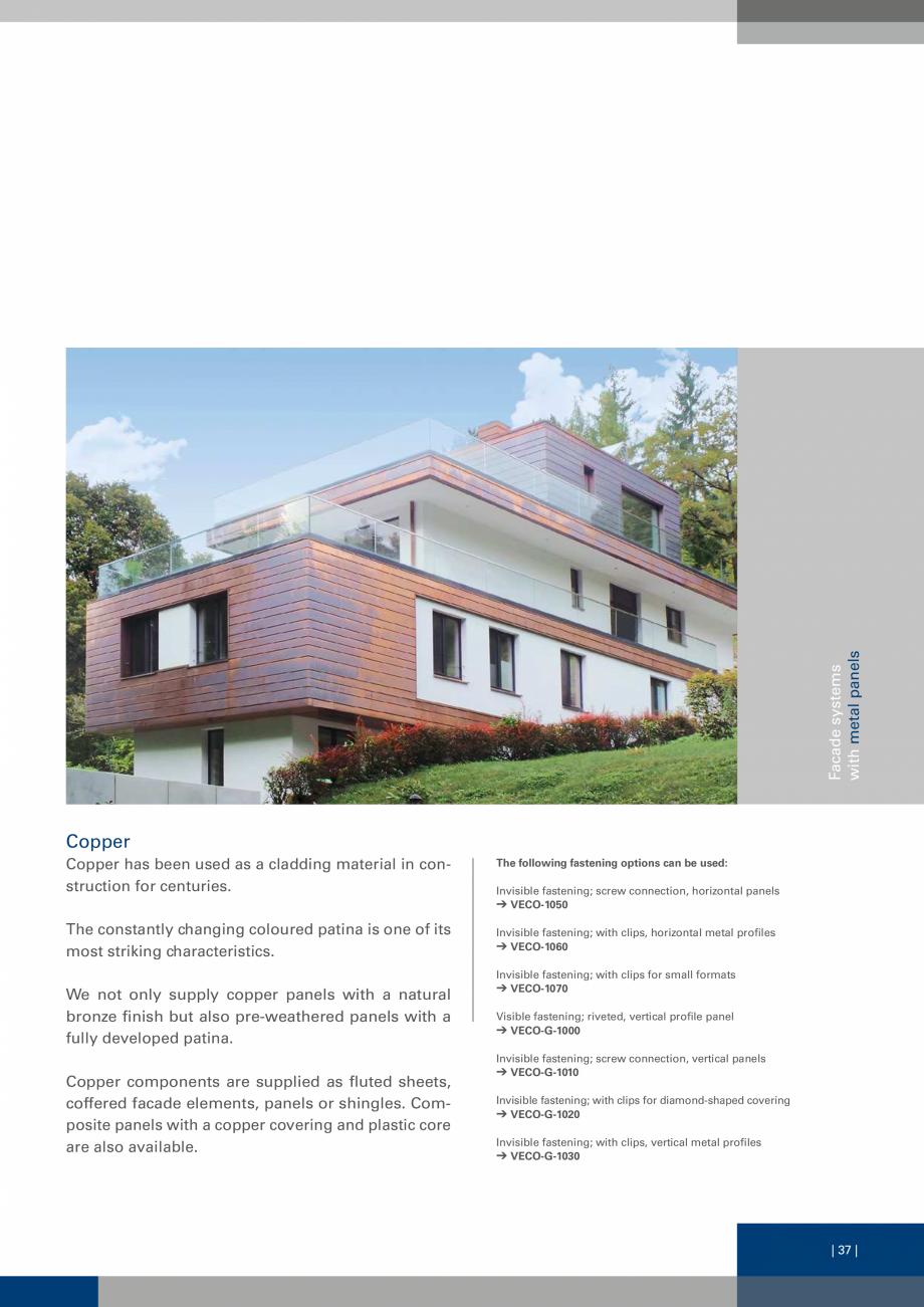 Pagina 37 - Sisteme de fixare a placarii  VECO Catalog, brosura Engleza table + migration ...
