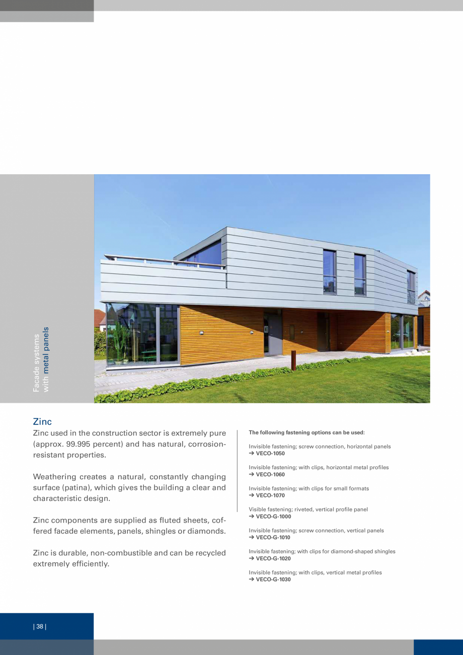 Pagina 38 - Sisteme de fixare a placarii  VECO Catalog, brosura Engleza , Corner plates etc. The...