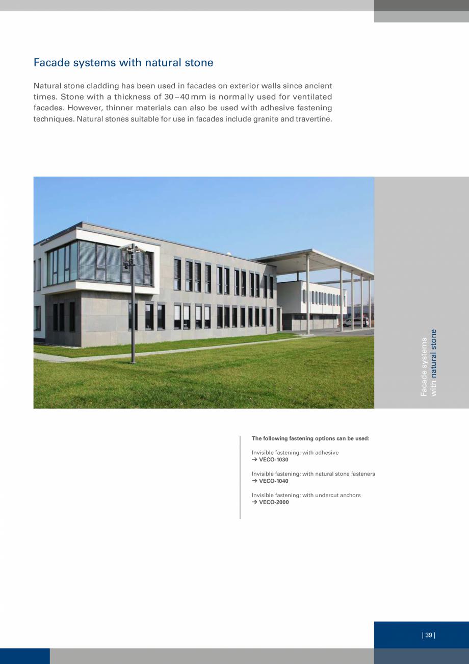 Pagina 39 - Sisteme de fixare a placarii  VECO Catalog, brosura Engleza ime and in the required...
