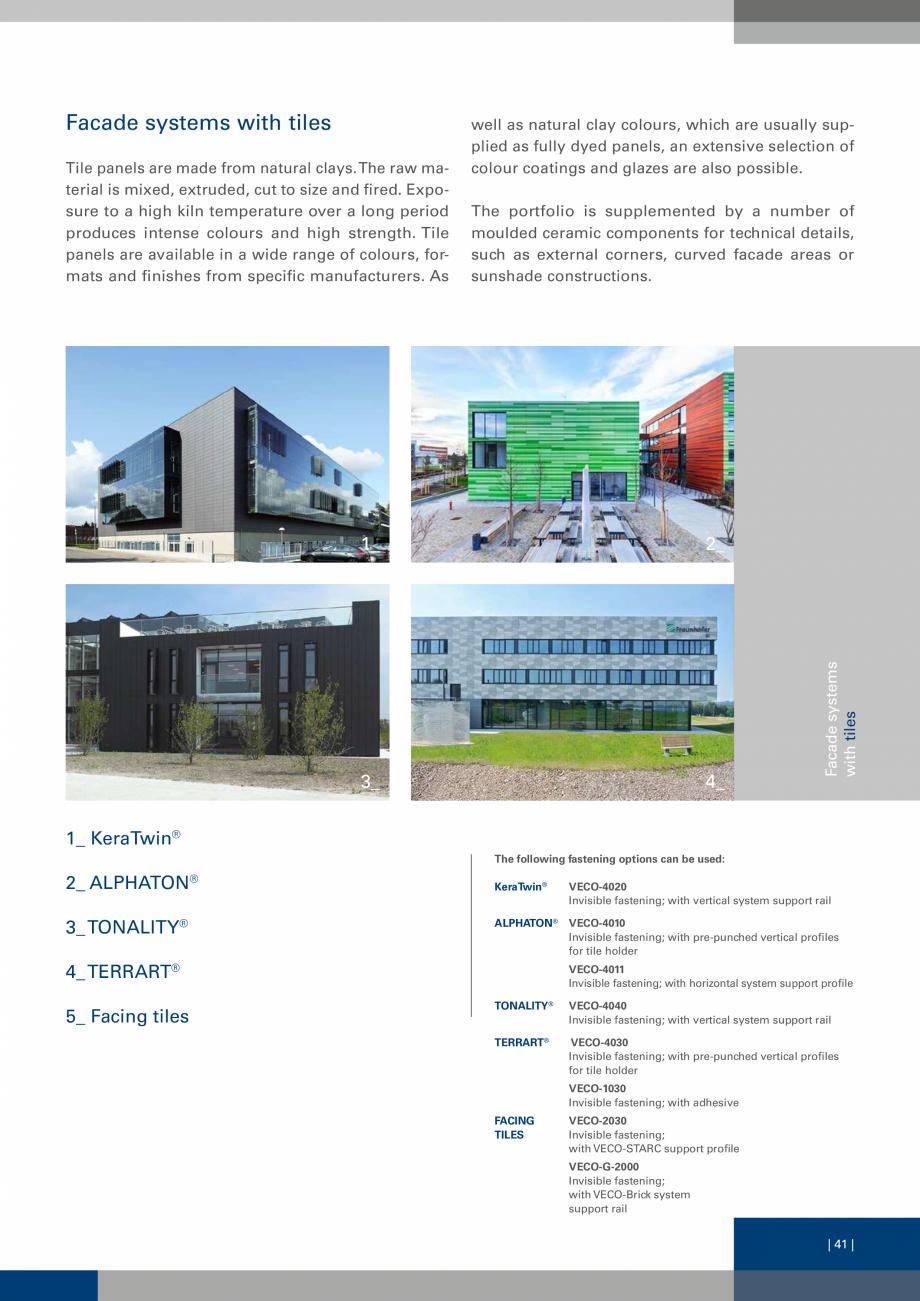 Pagina 41 - Sisteme de fixare a placarii  VECO Catalog, brosura Engleza  panel core is made of kraft...