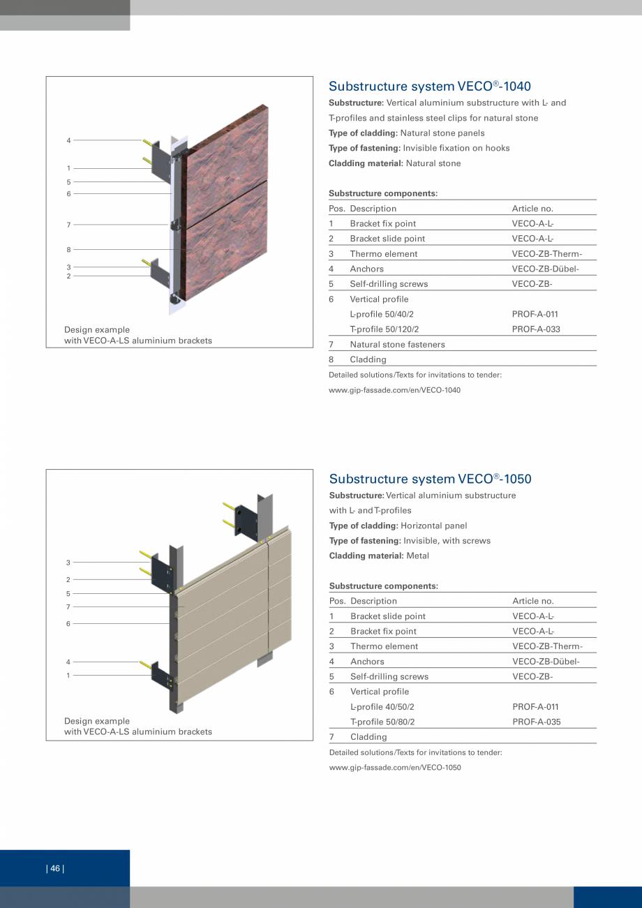 Pagina 46 - Sisteme de fixare a placarii  VECO Catalog, brosura Engleza ging coloured patina is one ...