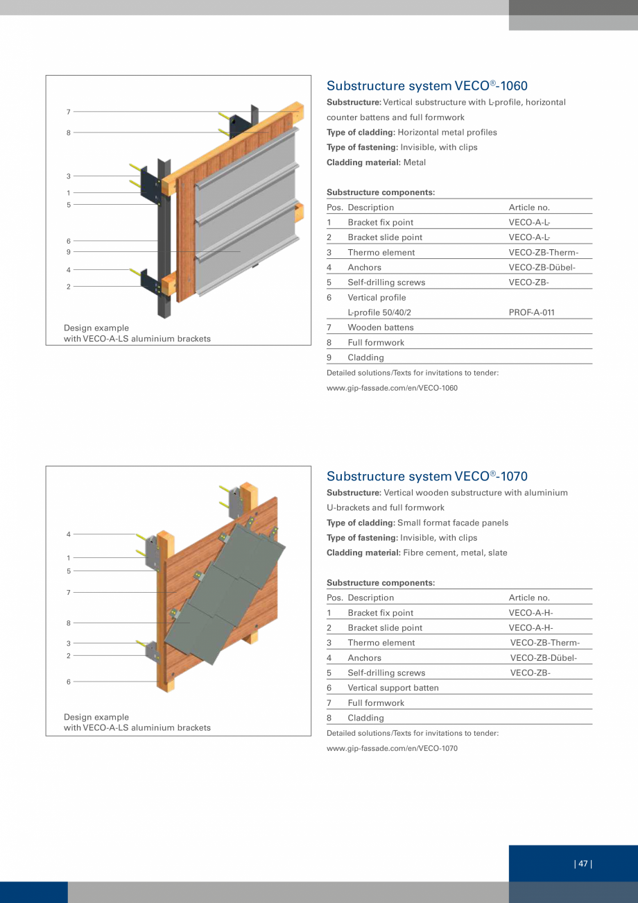 Pagina 47 - Sisteme de fixare a placarii  VECO Catalog, brosura Engleza ural, corrosionresistant...