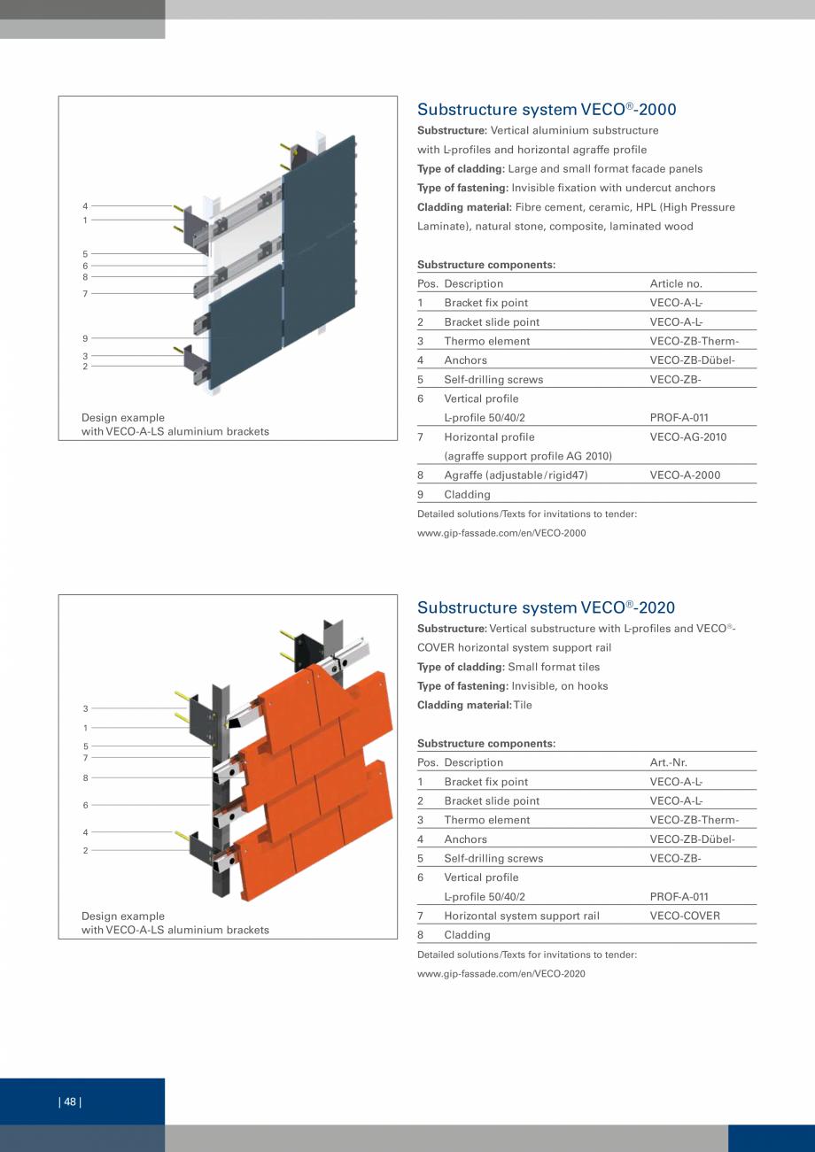 Pagina 48 - Sisteme de fixare a placarii  VECO Catalog, brosura Engleza d in facades on exterior...